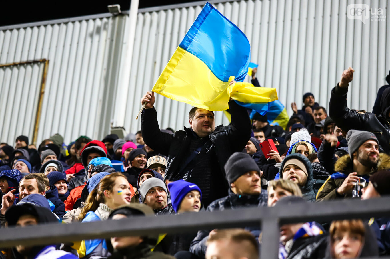 Сине-желтые трибуны, гимн с Гайтаной и перфомансы от фанатов: как в Запорожье впервые прошел матч сборной Украины, - ФОТОРЕПОРТАЖ, фото-57