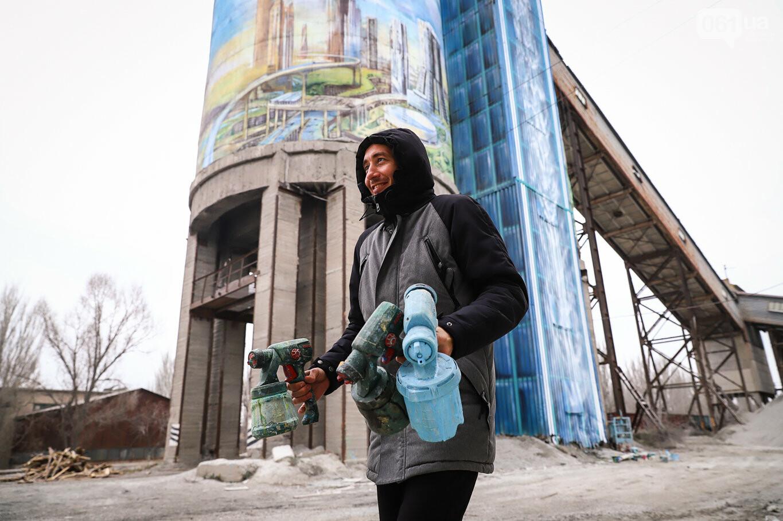Самый большой мурал Украины создали в Запорожье на территории каменного карьера, - ФОТОРЕПОРТАЖ, фото-13