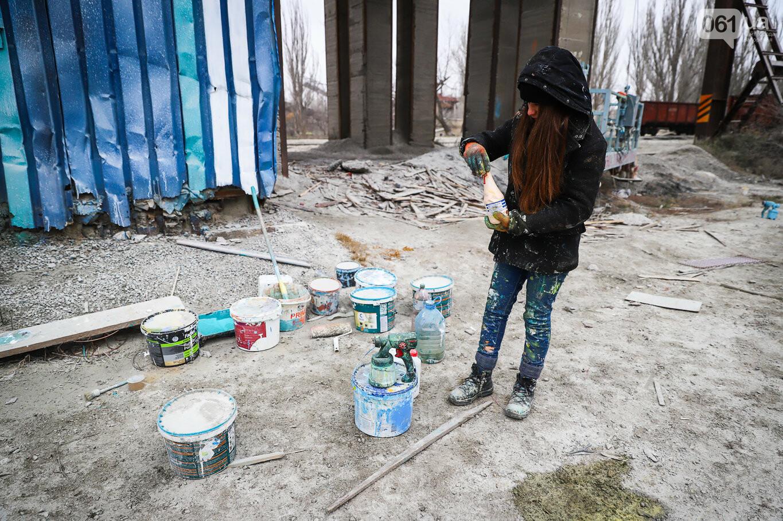 Самый большой мурал Украины создали в Запорожье на территории каменного карьера, - ФОТОРЕПОРТАЖ, фото-24