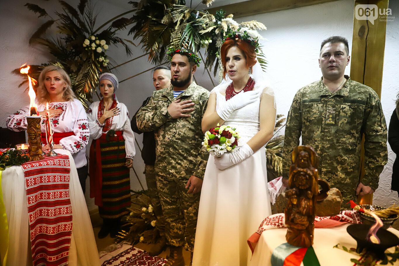 «Весь конфетно-букетный период прошел в окопах»: в Запорожье поженились военные, которые познакомились на передовой, - ФОТОРЕПОРТАЖ, фото-28