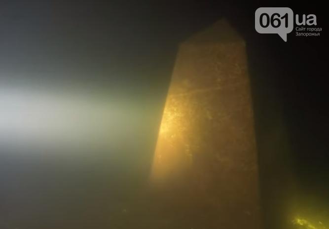 Запорожский дайвер отыскал под водой обелиск, затопленный при строительстве ДнепроГЭС, - ВИДЕО, фото-2