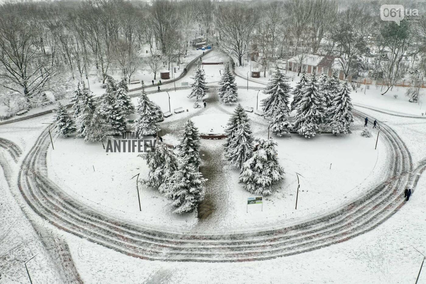 Ночная метель и заснеженный парк с высоты: жители Запорожской области делятся зимними фото , фото-4