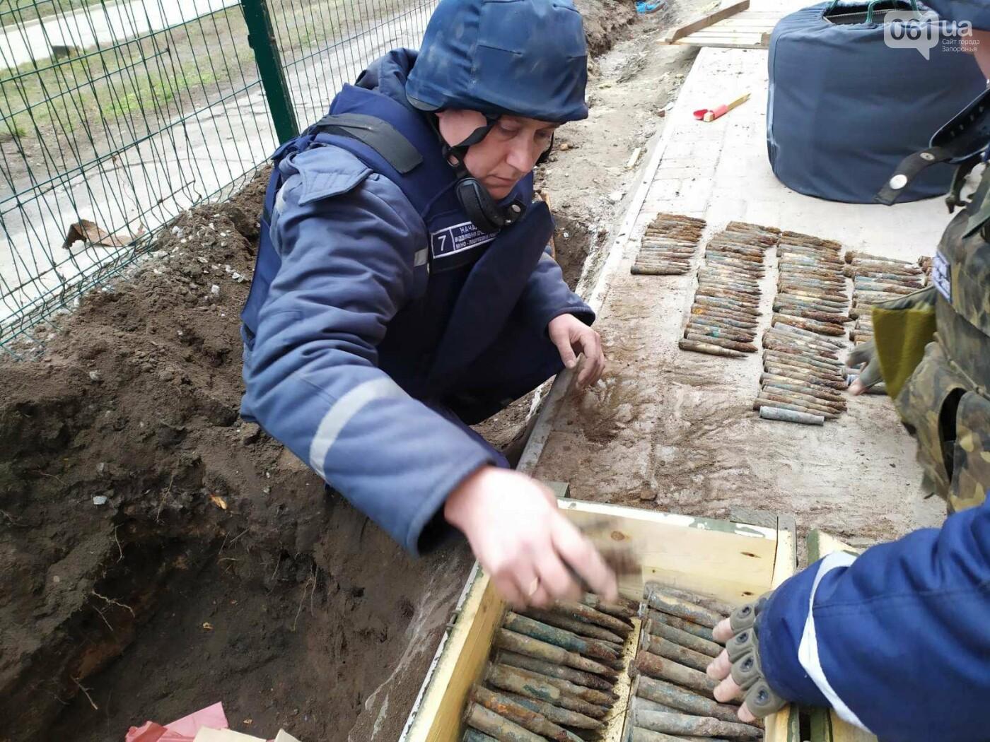 Нa территории ореховской школы нашли около сотни взрывоопасных предметов , фото-6