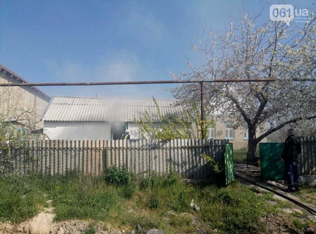 В Запорожском районе мужчина погиб во время пожара в собственном доме, фото-1
