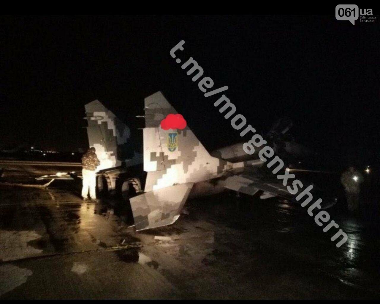 На аэродроме в Мелитополе совершил аварийную посадку истребитель МИГ-29, фото-1