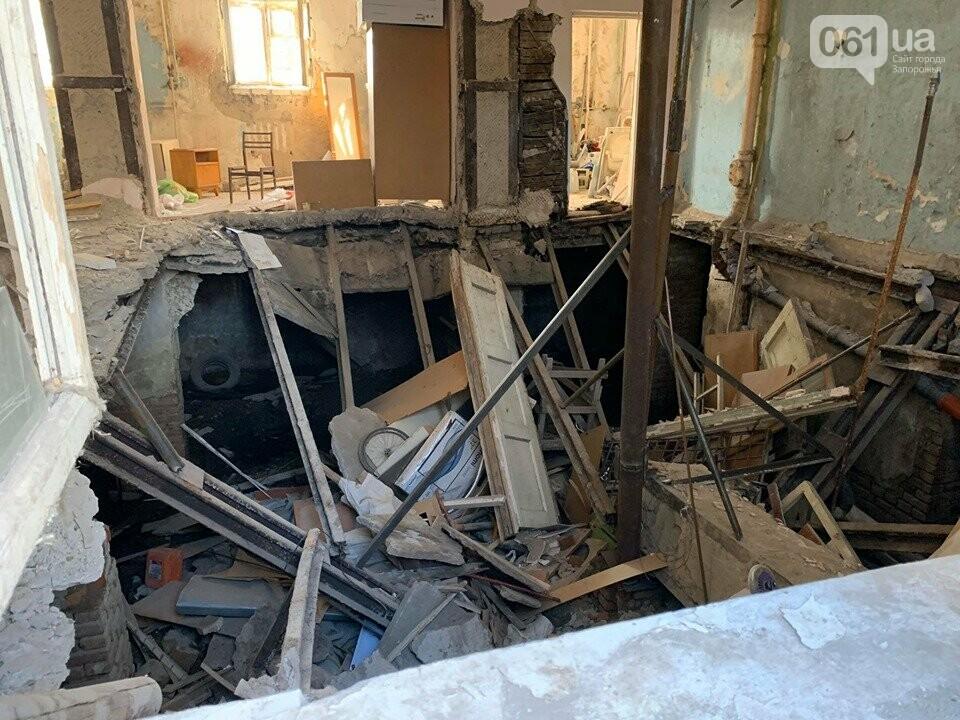 В Запорожье в аварийном доме установили временную опору — в квартирах на верхних этажах есть трещины, - ФОТО, фото-3