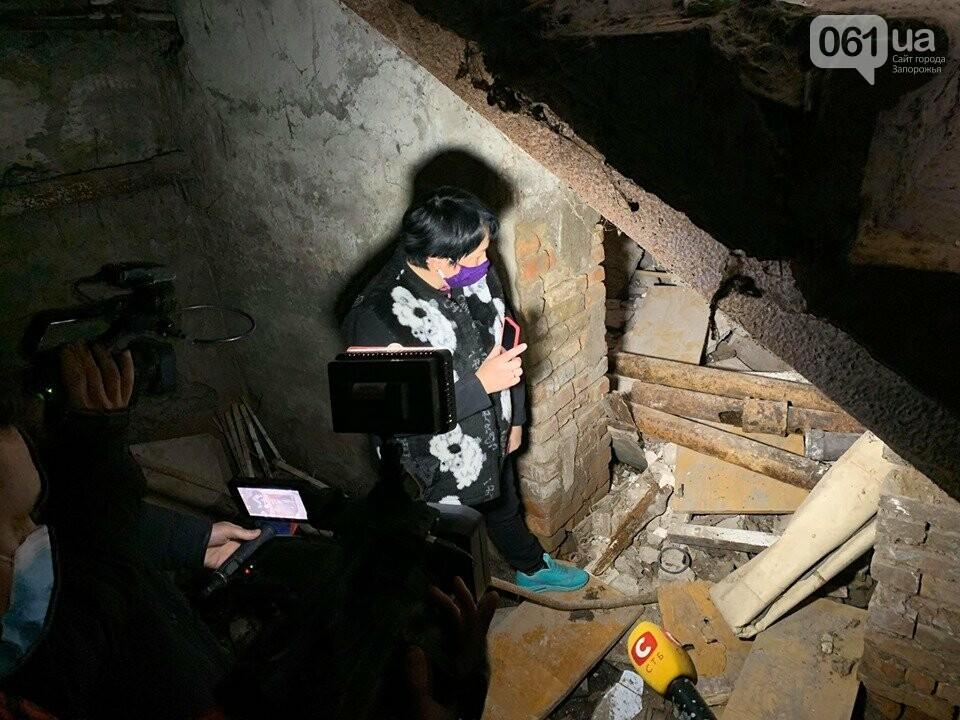 В Запорожье в аварийном доме установили временную опору — в квартирах на верхних этажах есть трещины, - ФОТО, фото-2