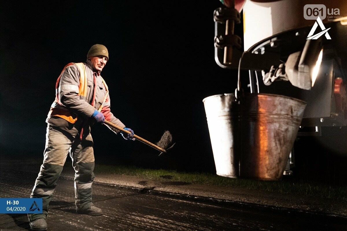 Ремонт дороги на Бердянск не прекращается даже ночью, - ФОТО, ВИДЕО, фото-3