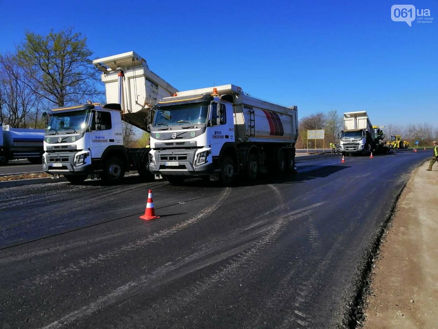 Ремонт дороги на Бердянск не прекращается даже ночью, - ФОТО, ВИДЕО, фото-8