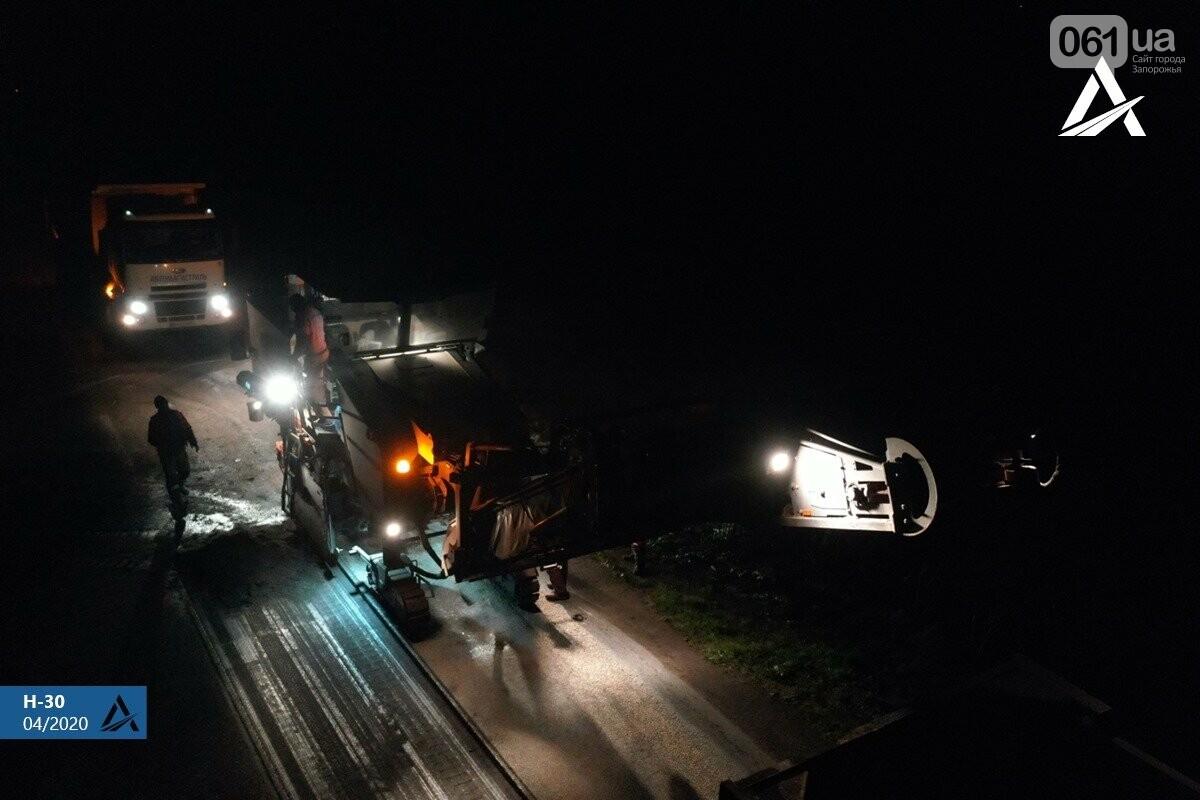 Ремонт дороги на Бердянск не прекращается даже ночью, - ФОТО, ВИДЕО, фото-2