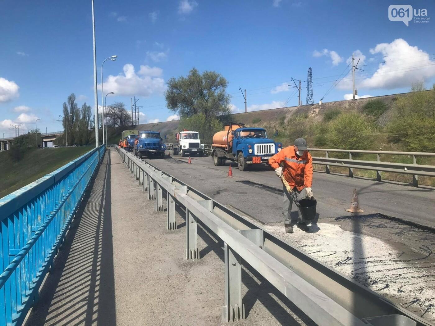 В Запорожье начали ремонт быков плотины ДнепроГЭС и съезда с моста Преображенского, фото-2