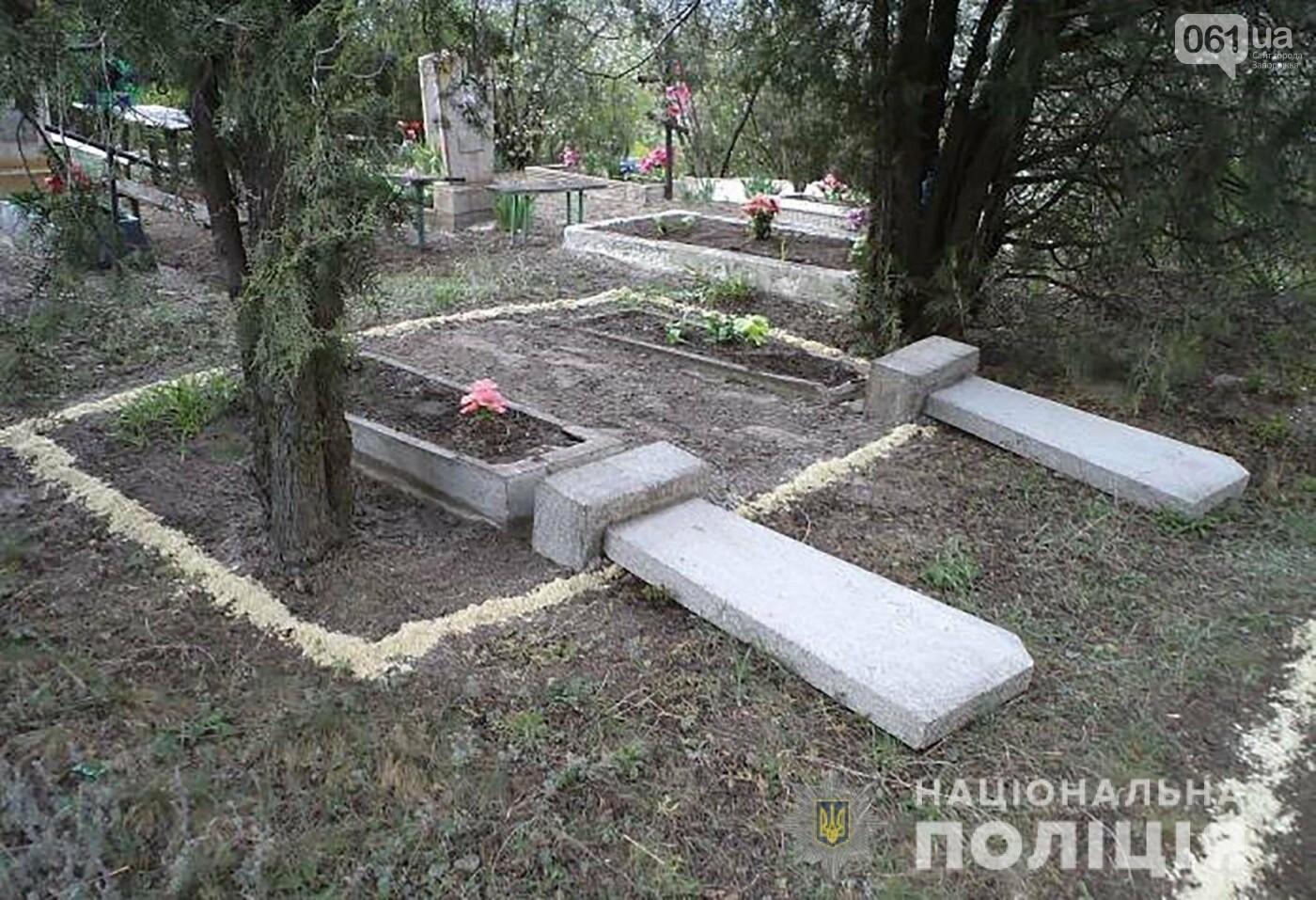 В Запорожской области 13-летний подросток разгромил три десятка могил на кладбище, фото-4
