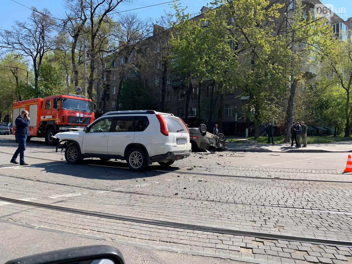 В запорожской полиции рассказали подробности утреннего ДТП с перевернувшимся авто , фото-3