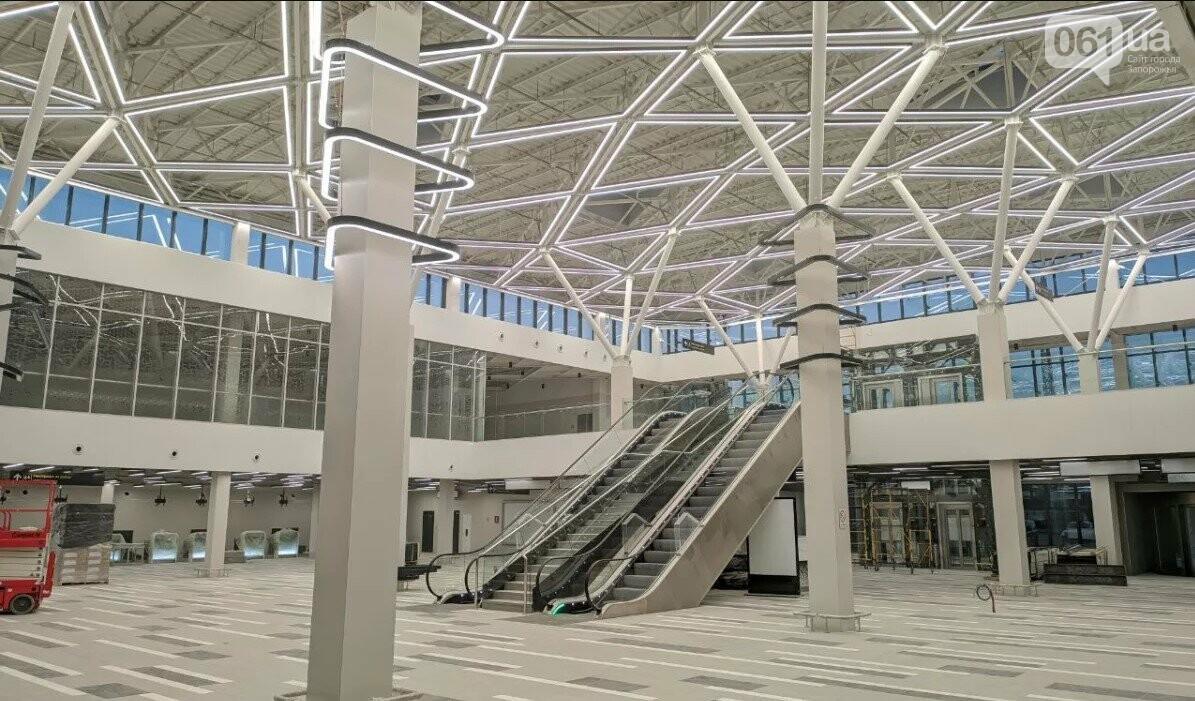 В новом терминале запорожского аэропорта смонтировали систему освещения главного холла, - ФОТО, фото-2