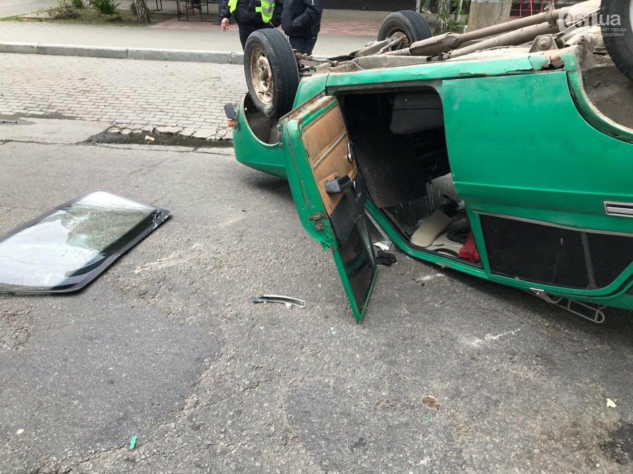 В Запорожье в результате аварии перевернулся автомобиль, - ФОТОФАКТ, фото-3