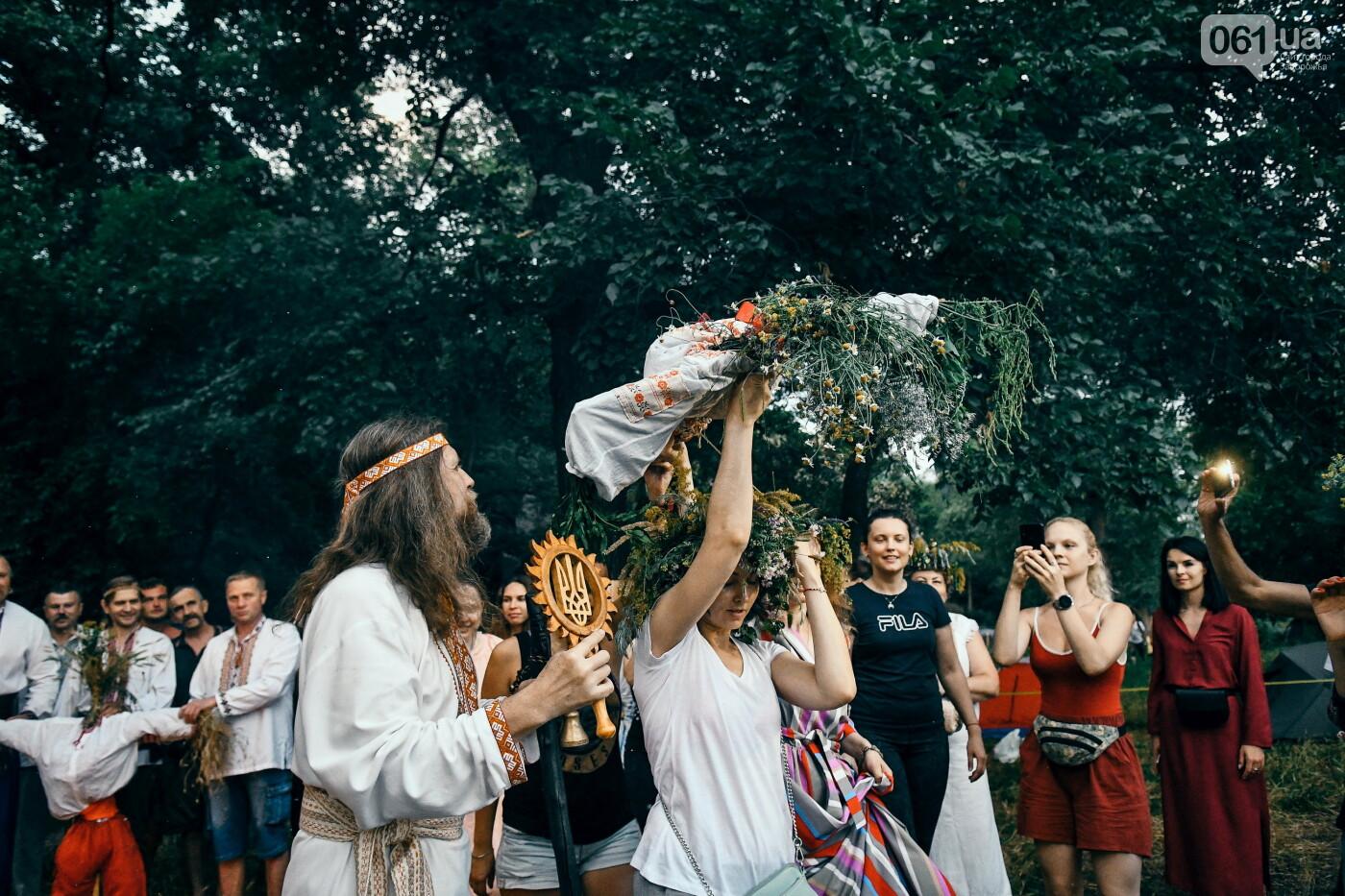 Хороводы в венках и прыжки через костер: как на Хортице отпраздновали Ивана Купала, - ФОТОРЕПОРТАЖ, фото-46