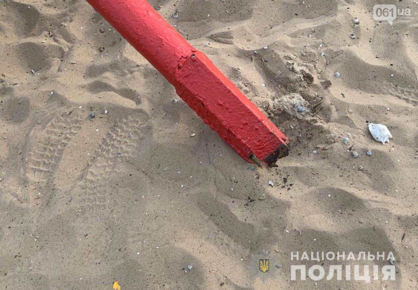 В Запорожье на Центральном пляже на 6-летнего ребенка упал металлический грибок , фото-2