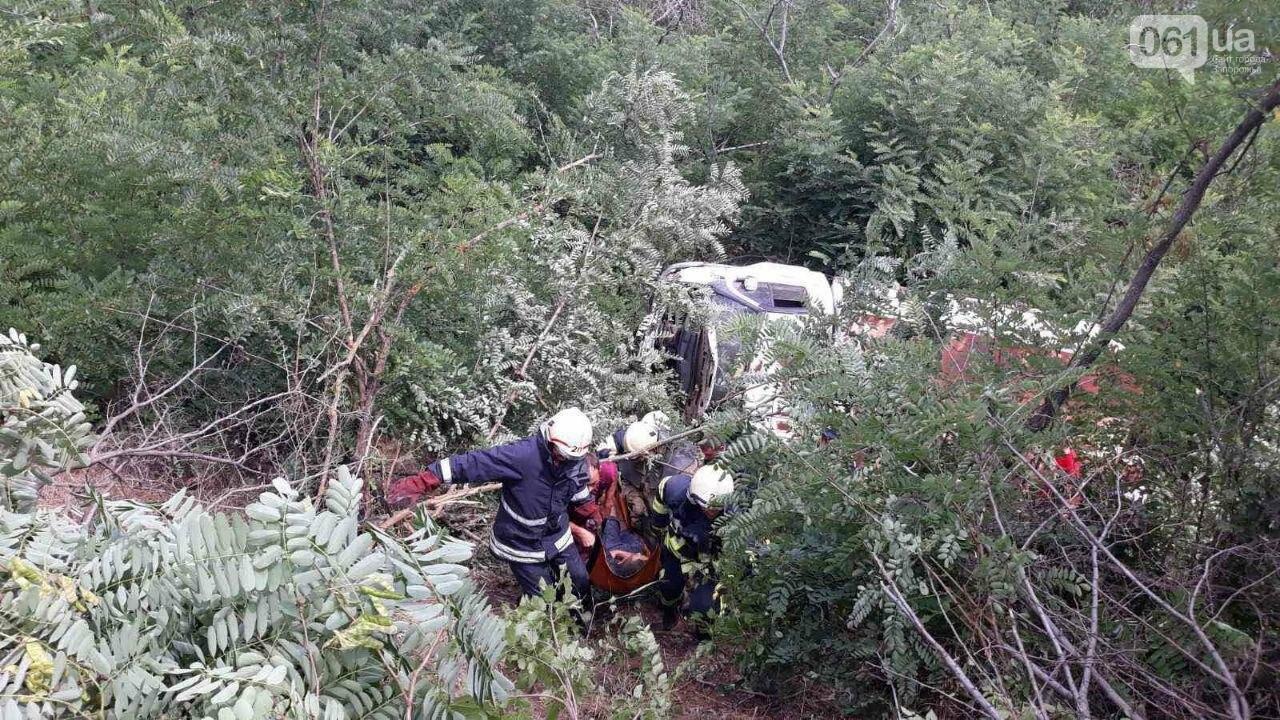 В Запорожской области грузовой автомобиль съехал в кювет и перевернулся: водителя пришлось деблокировать спасателям, - ФОТО, фото-3