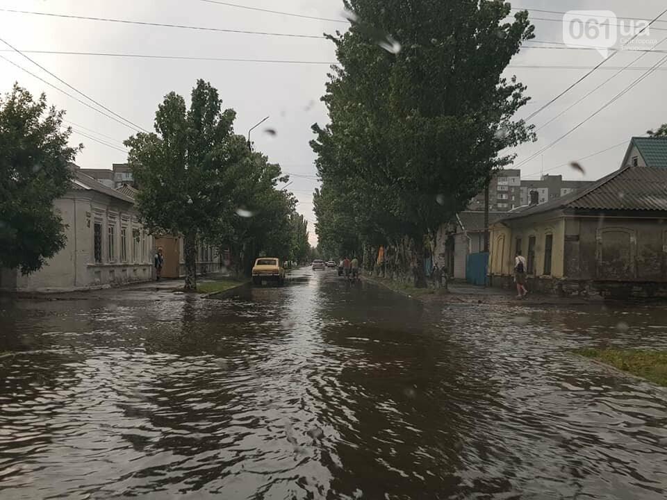 В результате сильного ливня затопило улицы Бердянска, - ФОТО, ВИДЕО , фото-1