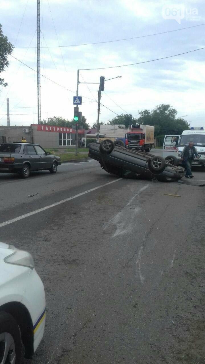 В Запорожье на Кичкасе перевернулся автомобиль, - ФОТО, фото-2