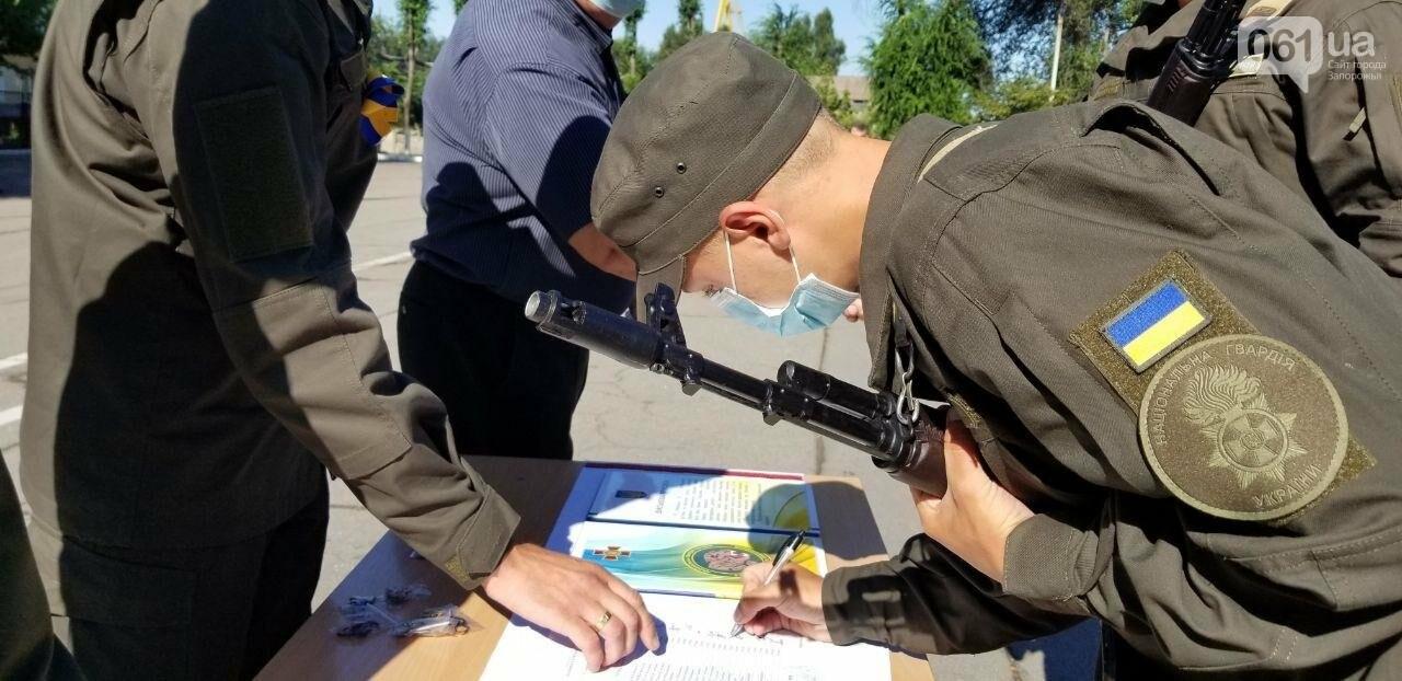 В Запорожье новобранцы НГУ приняли присягу, - ФОТО, фото-4