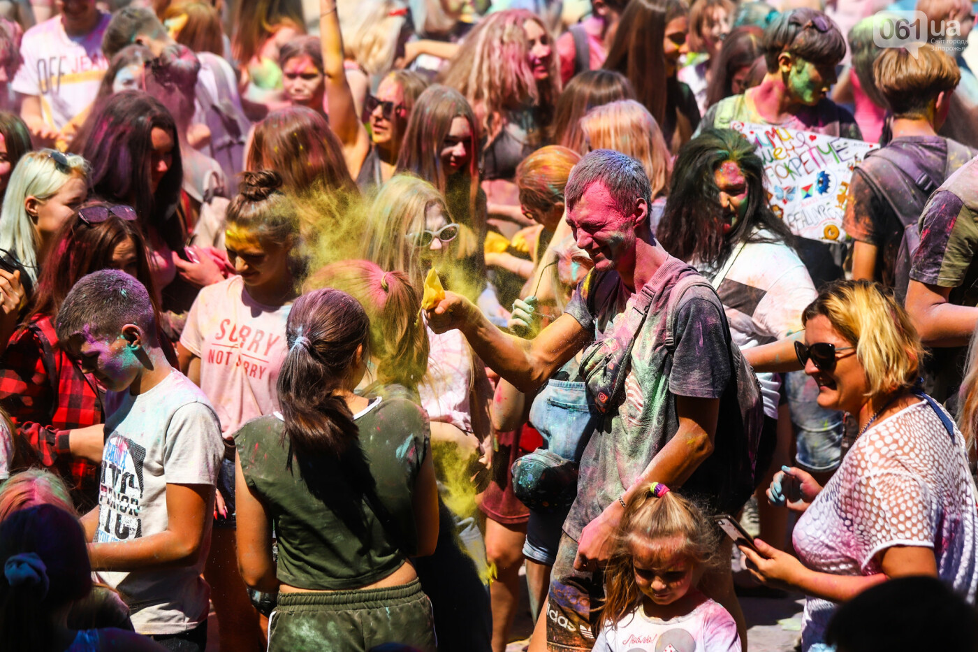 Сотни запорожцев приняли участие в фестивале красок Холи, - ФОТОРЕПОРТАЖ, фото-19