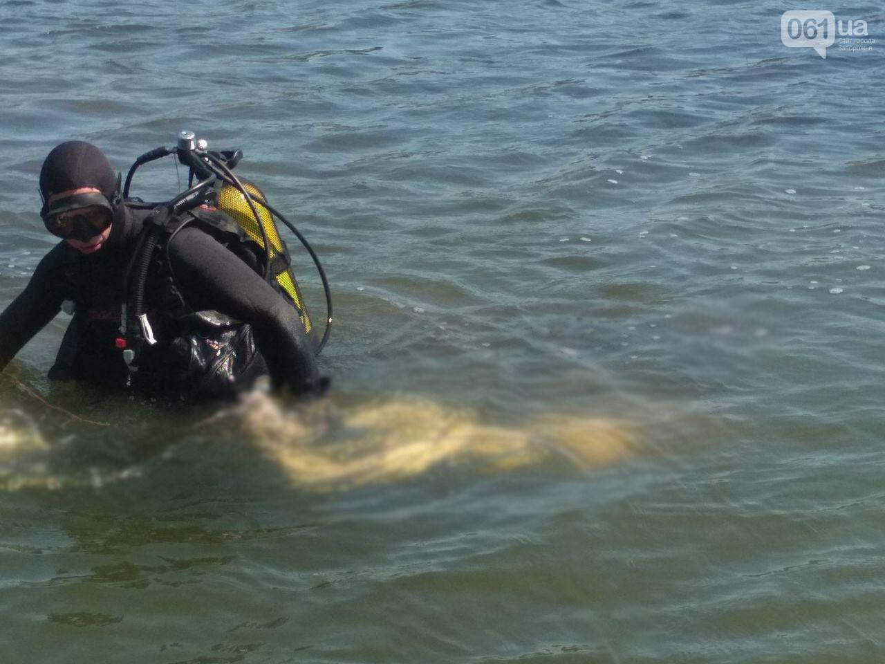 В Запорожской области водолазы вытащили из ставка тело мужчины , фото-2
