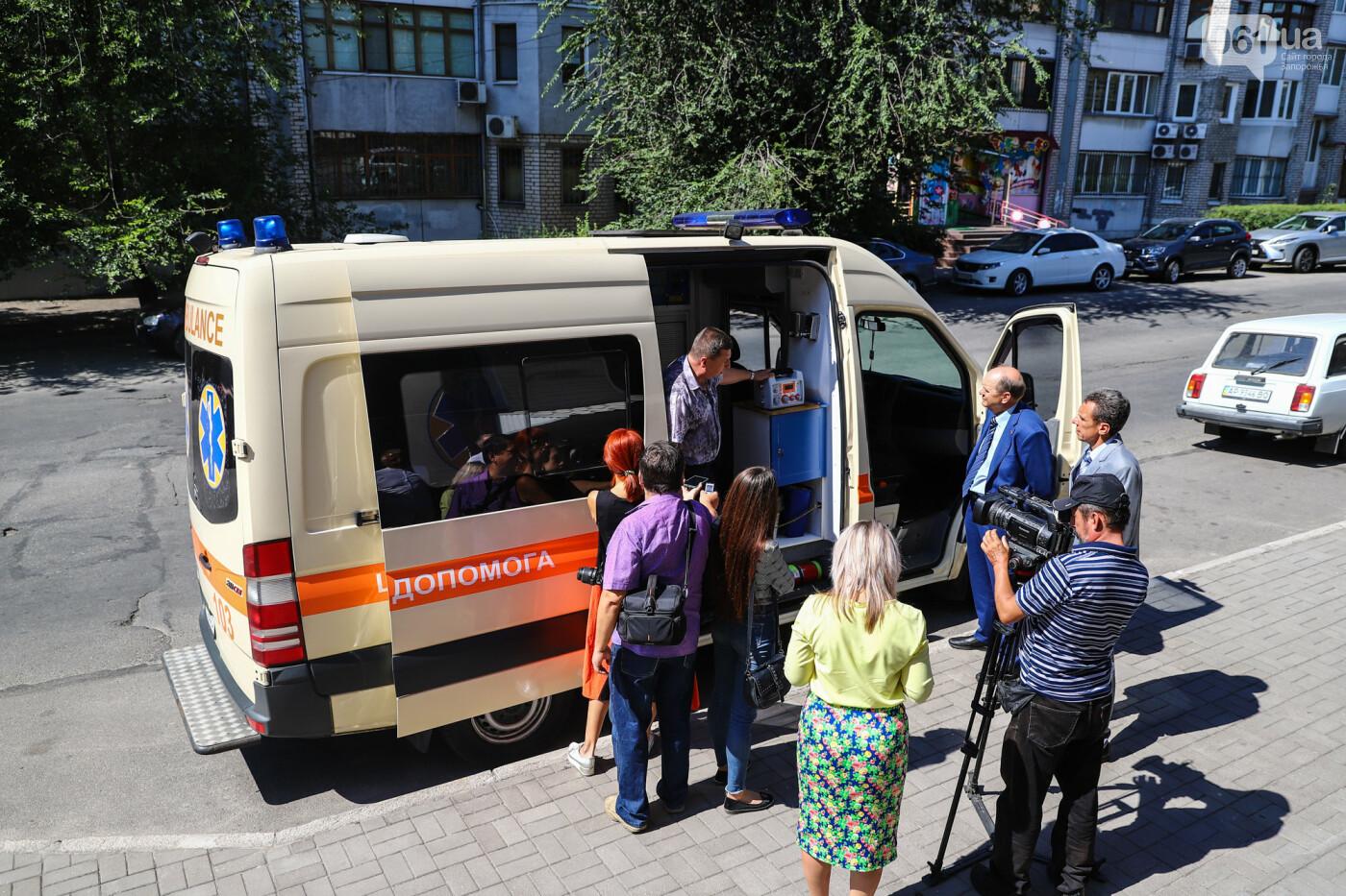Запорожские медики скорой помощи получили транспортный аппарат ИВЛ стоимостью 200 тысяч гривен, - ФОТО, фото-9