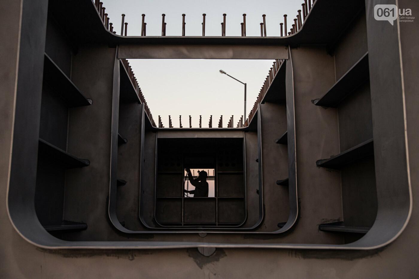 В Запорожье собирают балочный мост через Старый Днепр – строители работают даже ночью, - ФОТОРЕПОРТАЖ , фото-2
