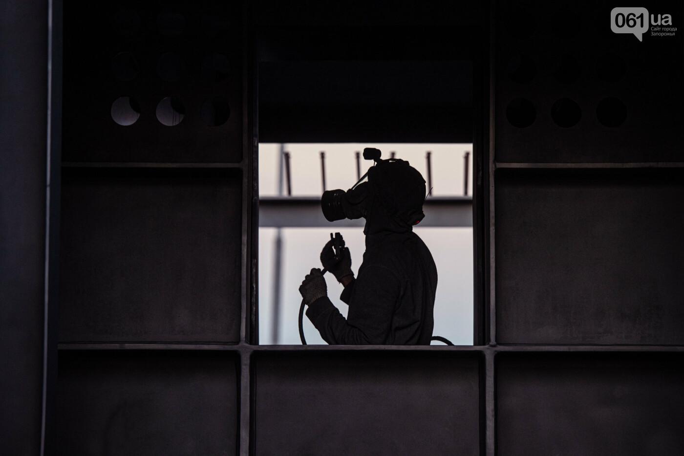 В Запорожье собирают балочный мост через Старый Днепр – строители работают даже ночью, - ФОТОРЕПОРТАЖ , фото-3