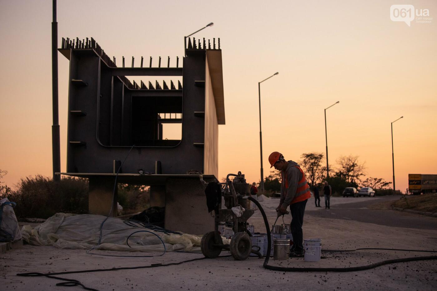 В Запорожье собирают балочный мост через Старый Днепр – строители работают даже ночью, - ФОТОРЕПОРТАЖ , фото-5