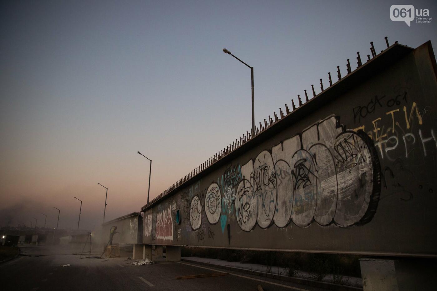В Запорожье собирают балочный мост через Старый Днепр – строители работают даже ночью, - ФОТОРЕПОРТАЖ , фото-9