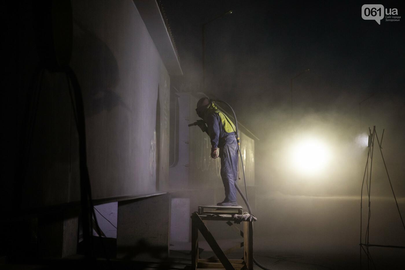 В Запорожье собирают балочный мост через Старый Днепр – строители работают даже ночью, - ФОТОРЕПОРТАЖ , фото-34