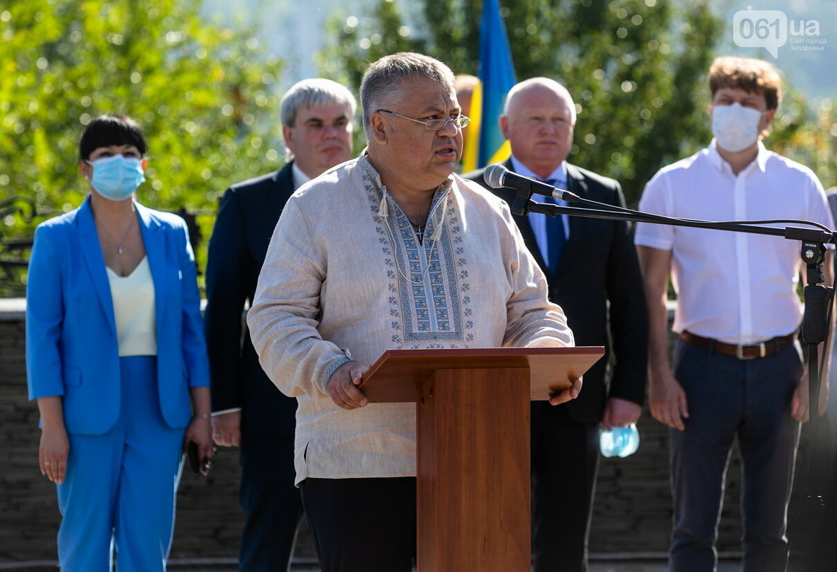 Впервые на Хортице развернули 100-метровый флаг Украины, - ФОТОРЕПОРТАЖ, фото-7