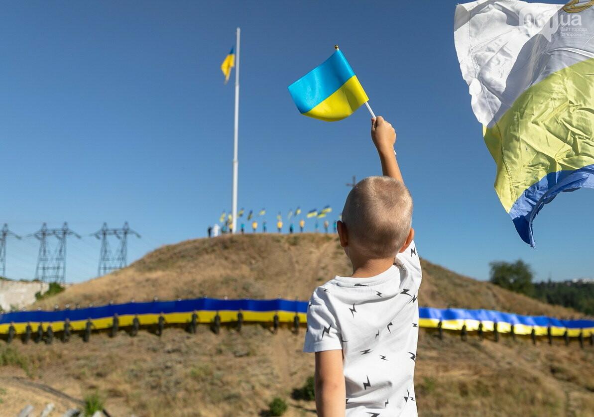 Впервые на Хортице развернули 100-метровый флаг Украины, - ФОТОРЕПОРТАЖ, фото-2