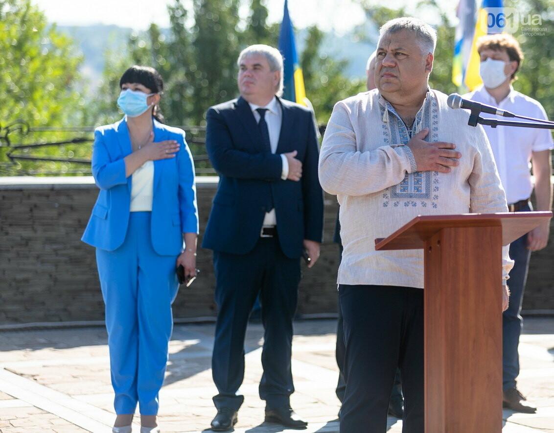 Впервые на Хортице развернули 100-метровый флаг Украины, - ФОТОРЕПОРТАЖ, фото-8