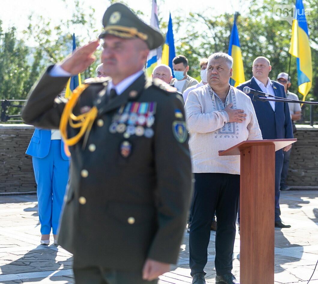 Впервые на Хортице развернули 100-метровый флаг Украины, - ФОТОРЕПОРТАЖ, фото-11
