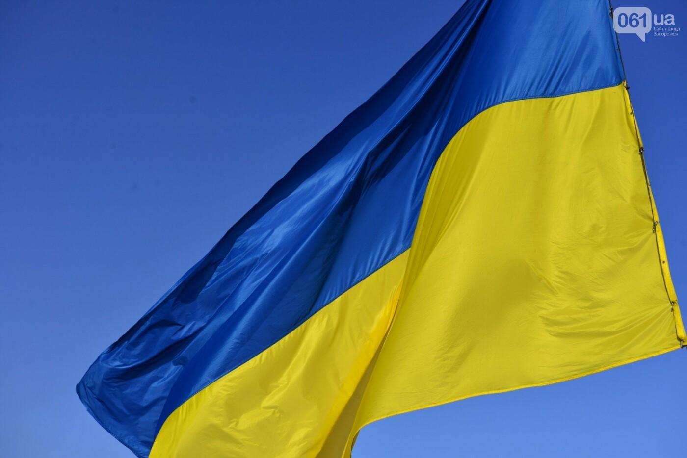Впервые на Хортице развернули 100-метровый флаг Украины, - ФОТОРЕПОРТАЖ, фото-6