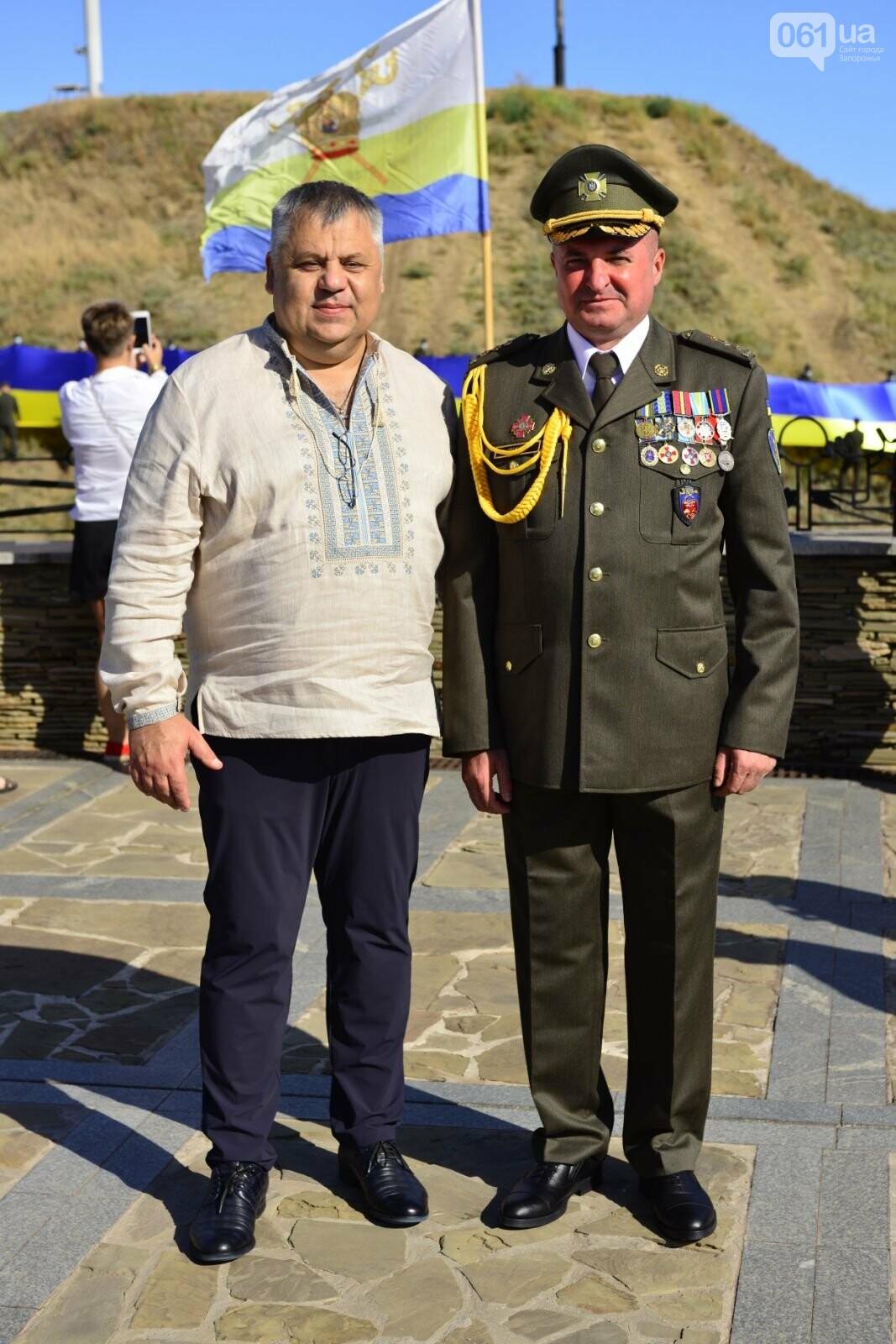 Впервые на Хортице развернули 100-метровый флаг Украины, - ФОТОРЕПОРТАЖ, фото-12