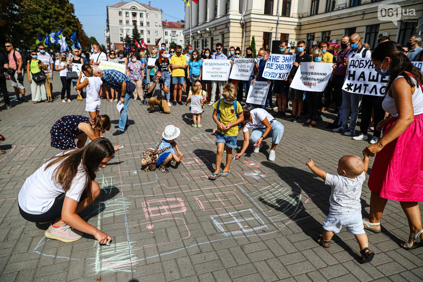 «Я выплачиваю кредит за воздух»: жильцы недостроенных многоэтажек вышли на митинг под стенами мэрии, - ФОТОРЕПОРТАЖ, фото-14