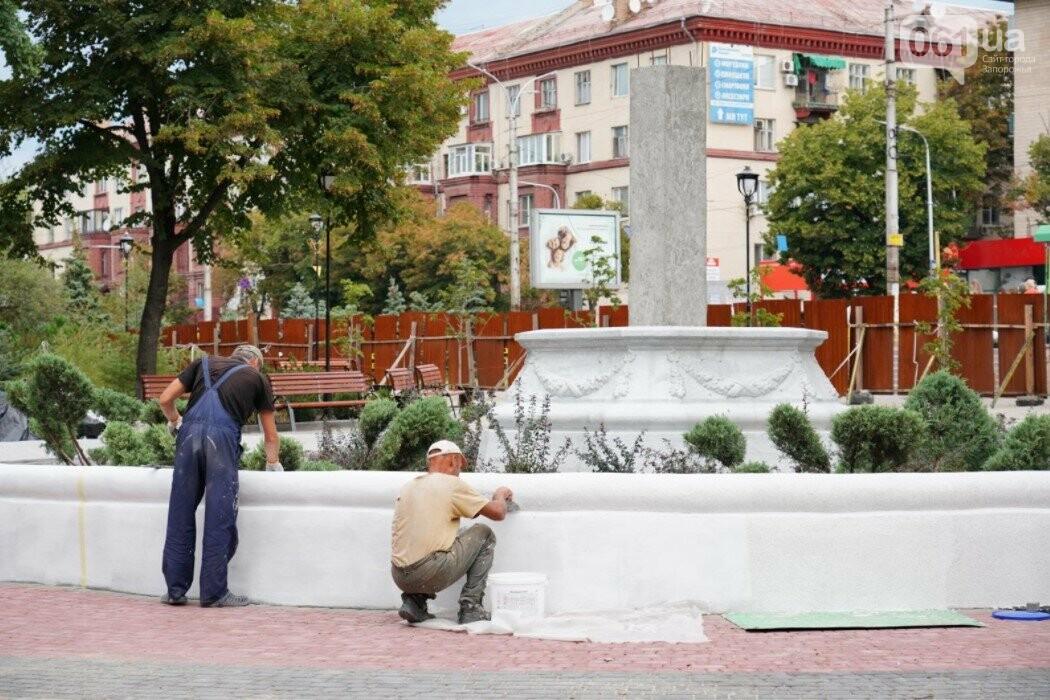 Прожекторы на скульптуре и смотровая площадка: в Запорожье завершили все основные работы в сквере Пионеров, - ФОТО, фото-4