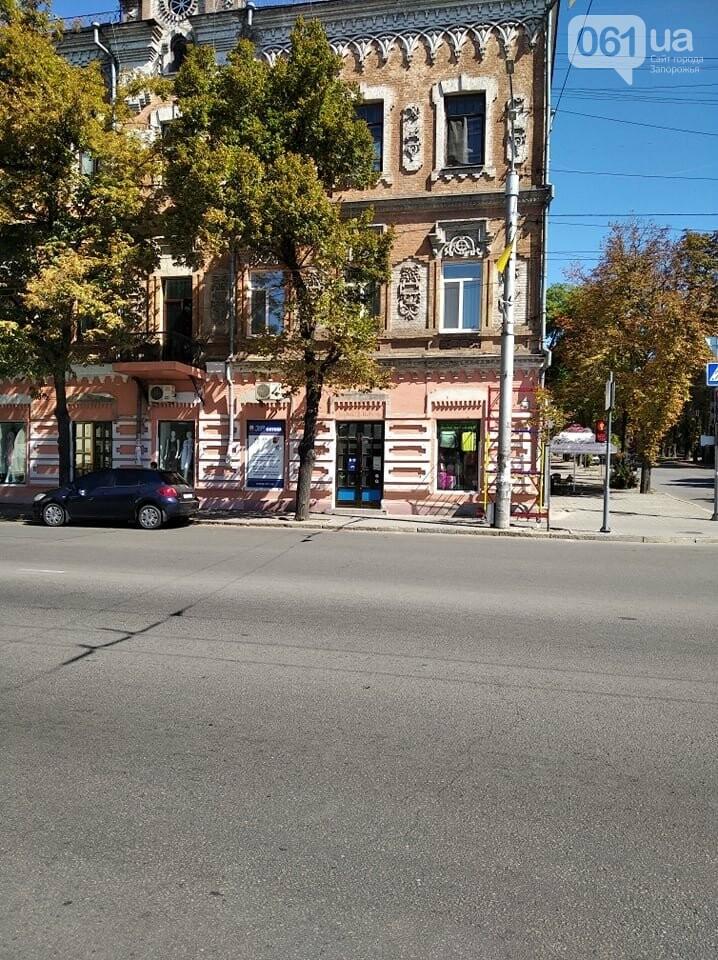 В Запорожье перекрашивают фасад знаменитого дома Лещинского - цвет краски подбирал главный художник города , фото-3