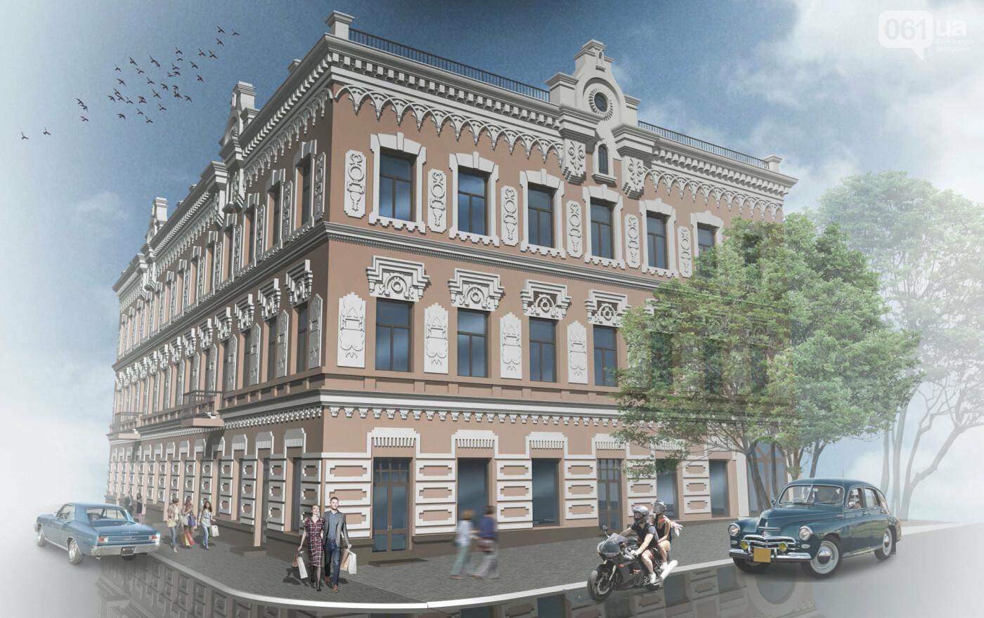 В Запорожье перекрашивают фасад знаменитого дома Лещинского - цвет краски подбирал главный художник города , фото-6