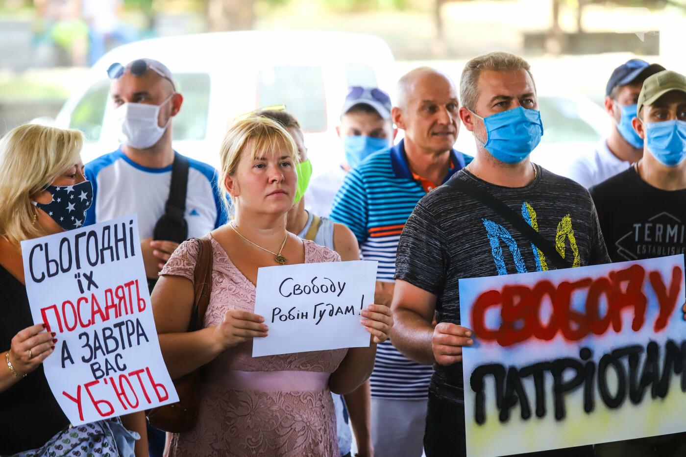 """Захист країни - не злочин"": в Запорожье патриоты провели митинг у стен нацполиции, - ФОТОРЕПОРТАЖ , фото-11"