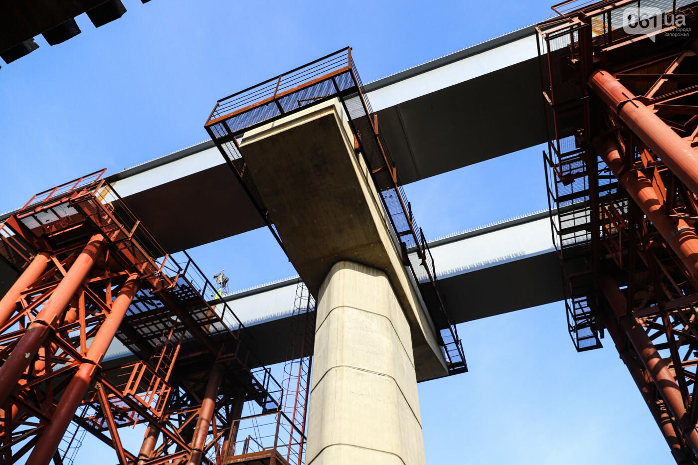 Бабурку соединили с Хортицей: на запорожских мостах смонтировали последнюю балку через старый Днепр, - ФОТО , фото-6