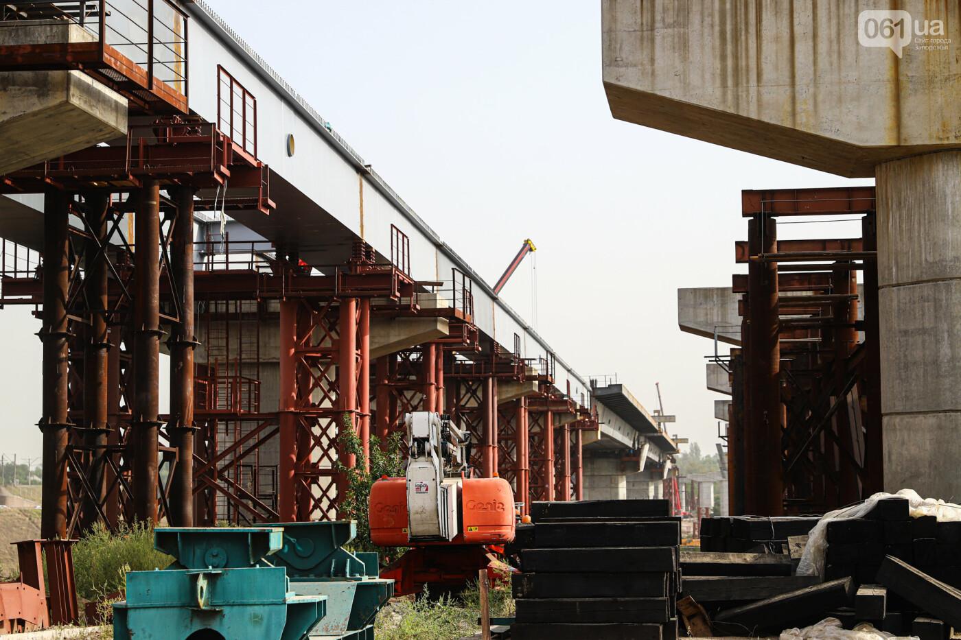 Бабурку соединили с Хортицей: на запорожских мостах смонтировали последнюю балку через старый Днепр, - ФОТО , фото-5