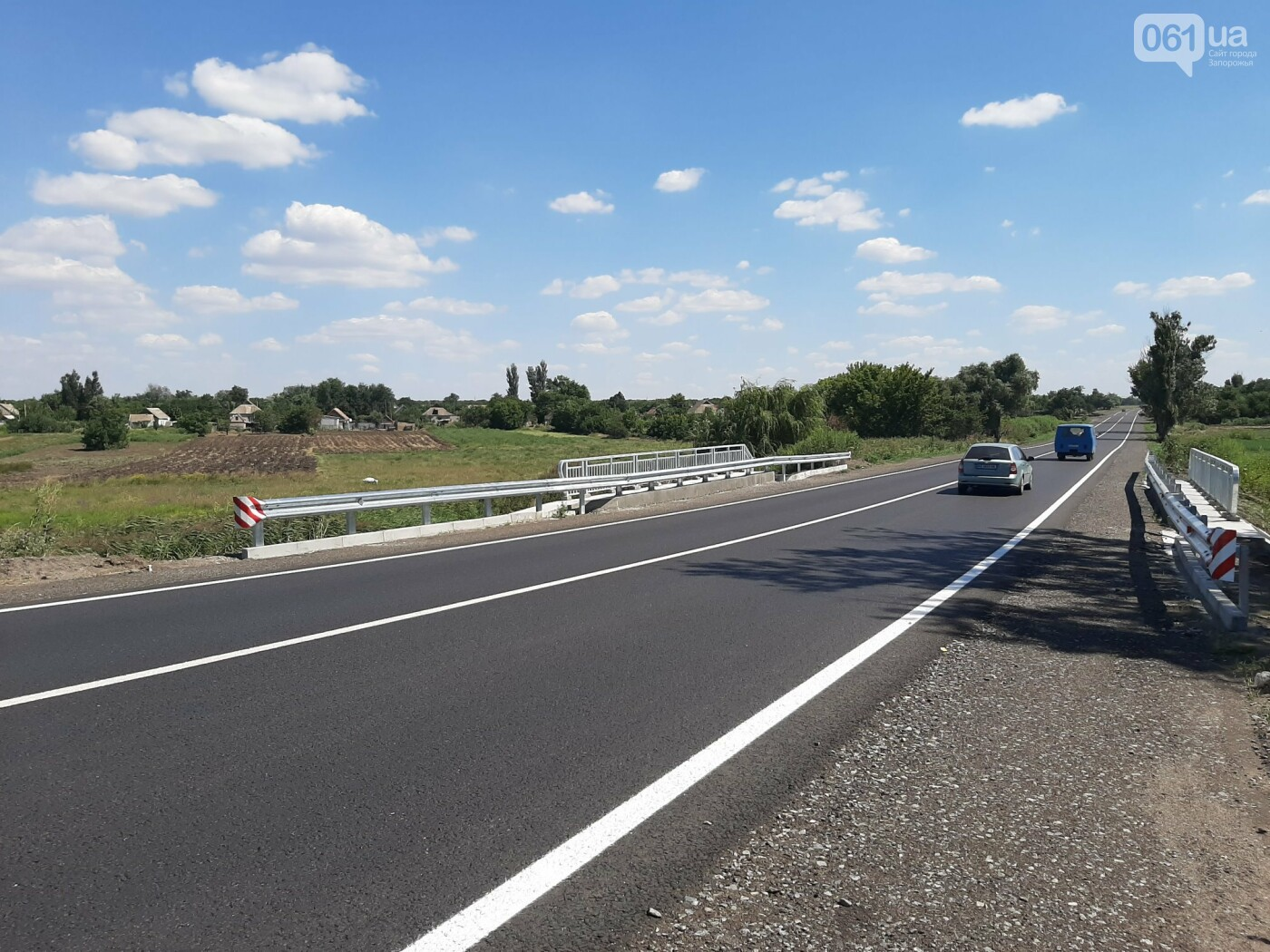 В Запорожской области на трассе Васильевка-Бердянск отремонтировали 12-метровый мост , фото-1