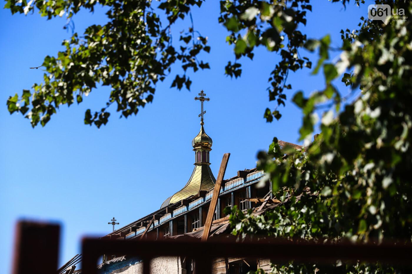 """""""Дело пономарей"""": в Запорожье начали разбирать храм, который пострадал в результате взрыва, - ФОТОРЕПОРТАЖ, фото-17"""