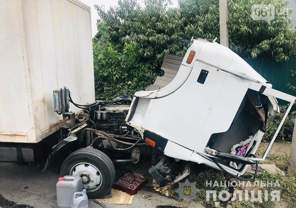 В Запорожье грузовик врезался в электроопору - водитель погиб , фото-2