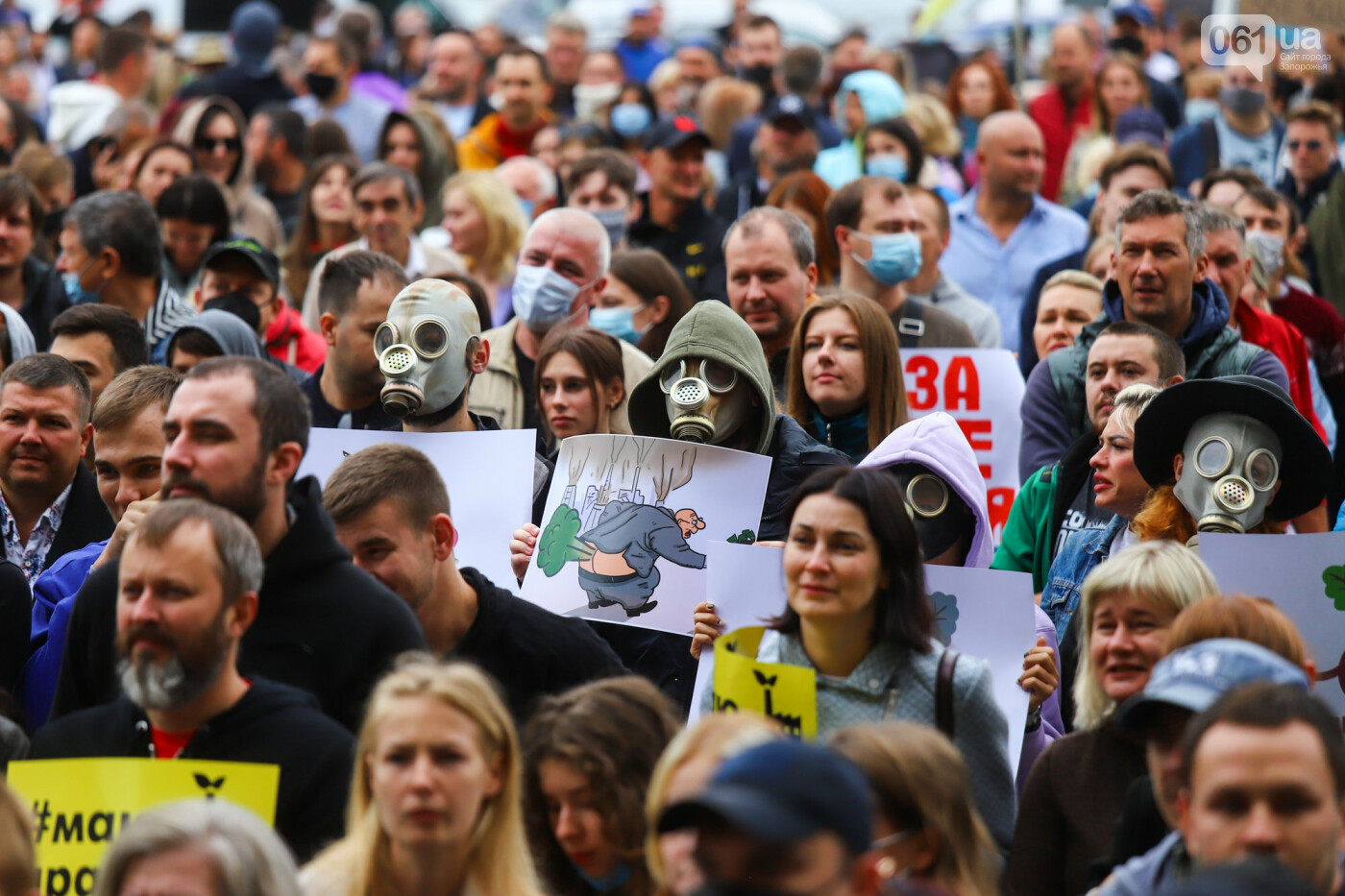 Маю право дихати: тысячи запорожцев вышли на экологический митинг, ФОТО, ВИДЕО, фото-42